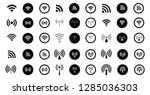 set of 45 different wifi icons. ...   Shutterstock .eps vector #1285036303