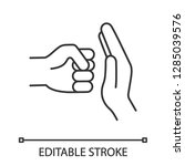 domestic violence linear icon.... | Shutterstock .eps vector #1285039576