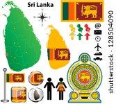 vector of sri lanka set with...   Shutterstock .eps vector #128504090