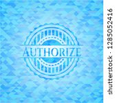 authorize light blue emblem.... | Shutterstock .eps vector #1285052416