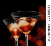 red iced cocktail in martini... | Shutterstock . vector #128505359