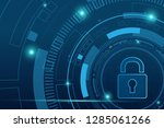 cyber security technology... | Shutterstock .eps vector #1285061266