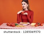 Tomatoes Vegetables Woman...