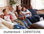 three generation hispanic... | Shutterstock . vector #1285072156