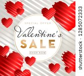 valentines day sale background... | Shutterstock .eps vector #1285072333