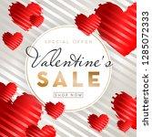 valentines day sale background... | Shutterstock .eps vector #1285072333