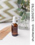 bottle of mineral natural diy... | Shutterstock . vector #1285072783