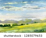 Landscape With Trees And Cloud...