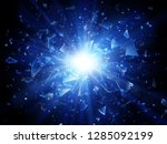 shards of broken glass.... | Shutterstock .eps vector #1285092199