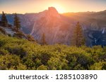 panorama view of sunset over... | Shutterstock . vector #1285103890