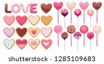 valentine's day decorated... | Shutterstock .eps vector #1285109683