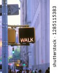 walk don't walk sign  manhattan ... | Shutterstock . vector #1285115383