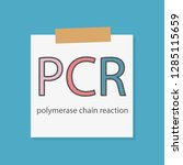 pcr polymerase chain reaction... | Shutterstock .eps vector #1285115659