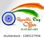illustration of republic day... | Shutterstock .eps vector #1285117936