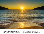 scenic sunset or sunrise over... | Shutterstock . vector #1285119613