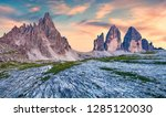 incredible evening view of tre... | Shutterstock . vector #1285120030