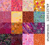 seamless pattern with abstract... | Shutterstock .eps vector #1285125769