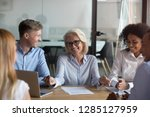 different people young and aged ... | Shutterstock . vector #1285127959