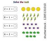 worksheet. mathematical puzzle...   Shutterstock .eps vector #1285131010
