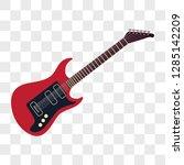 acoustic guitar musical... | Shutterstock .eps vector #1285142209