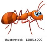 alone,animals,ant,antenna,antennae,background,brown,bug,cartoon,claw,clip art,clip-art,clipart,crawling,cute