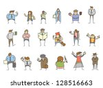set of cartoon character... | Shutterstock .eps vector #128516663