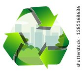 recycling label with the park... | Shutterstock .eps vector #1285168636