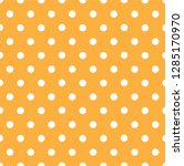 yellow polka dot seamless... | Shutterstock .eps vector #1285170970
