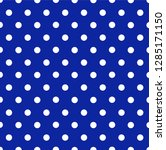 navy polka dot seamless pattern | Shutterstock .eps vector #1285171150