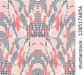 quirky tapestry pattern.... | Shutterstock .eps vector #1285176856