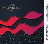 the valentine's day background... | Shutterstock .eps vector #1285178563
