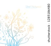 hand drawing decorative floral... | Shutterstock .eps vector #1285186480