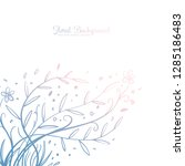 hand drawing decorative floral... | Shutterstock .eps vector #1285186483