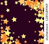 diagonal border from confetti... | Shutterstock .eps vector #1285189969
