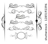 decorative monograms and... | Shutterstock .eps vector #1285192396