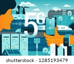5g technologies in our life.... | Shutterstock .eps vector #1285193479