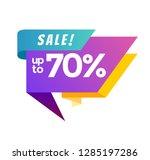 big sale banner.  illustration. ... | Shutterstock . vector #1285197286