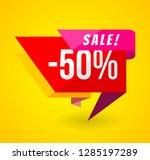 limited offer mega sale banner. ... | Shutterstock . vector #1285197289