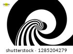 pattern with optical illusion.... | Shutterstock .eps vector #1285204279