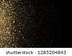 golden glitter dust effect on... | Shutterstock .eps vector #1285204843