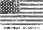 grunge american flag.dirty flag ... | Shutterstock .eps vector #1285204870