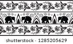 elephant border design  vector  | Shutterstock .eps vector #1285205629