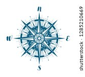 compass wind rose  sketch.... | Shutterstock .eps vector #1285210669