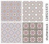 floral seamless mosaic tile.... | Shutterstock .eps vector #1285215373