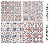 floral seamless mosaic tile.... | Shutterstock .eps vector #1285215379