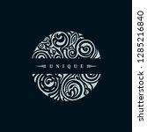 round calligraphic royal black... | Shutterstock .eps vector #1285216840