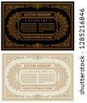 vintage gold vector horizontal... | Shutterstock .eps vector #1285216846