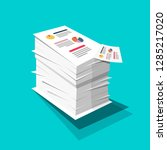 stack of paper. business... | Shutterstock .eps vector #1285217020