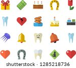 color flat icon set cake flat... | Shutterstock .eps vector #1285218736