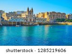 neo gothic parish church of our ... | Shutterstock . vector #1285219606